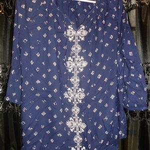 NWOT Sonoma floral paisley tunic